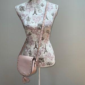 Victorias Secret Dusty Pink Crossbody with Tassles